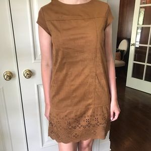 Xhilaration Faux-Suede Tan Dress